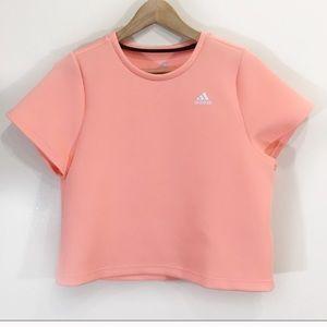 Adidas Neoprene Peach Neon Crop Top Sz Small NWOT New